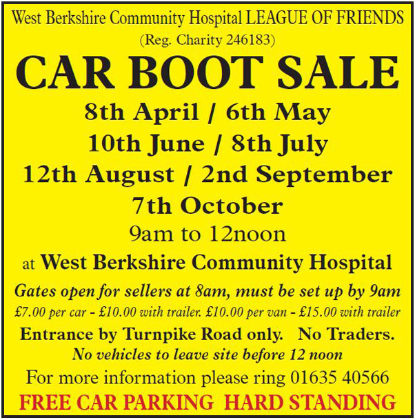 West Berkshire Hospital car Boot Sales 2018