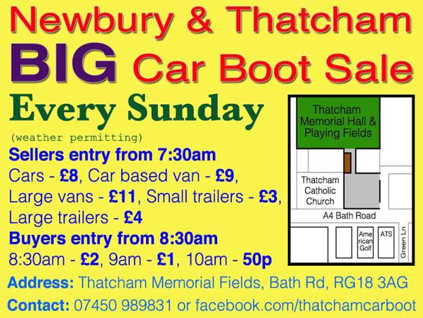 Thatcham Car Boot Sales 2018